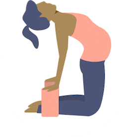 Camel Pose - Online Prenatal Yoga with support