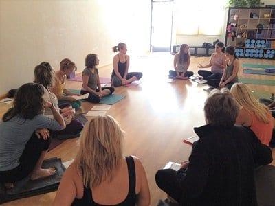 The Yoga of Pregnancy Prenatal Yoga Training - welcome circle
